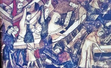 الطاعون لوحة تاريخية